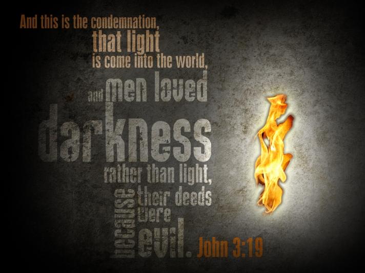 Image result for john 3:19-20